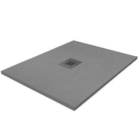 Imperia 900 x 900mm Graphite Slate Effect Square Shower Tray + Graphite Waste