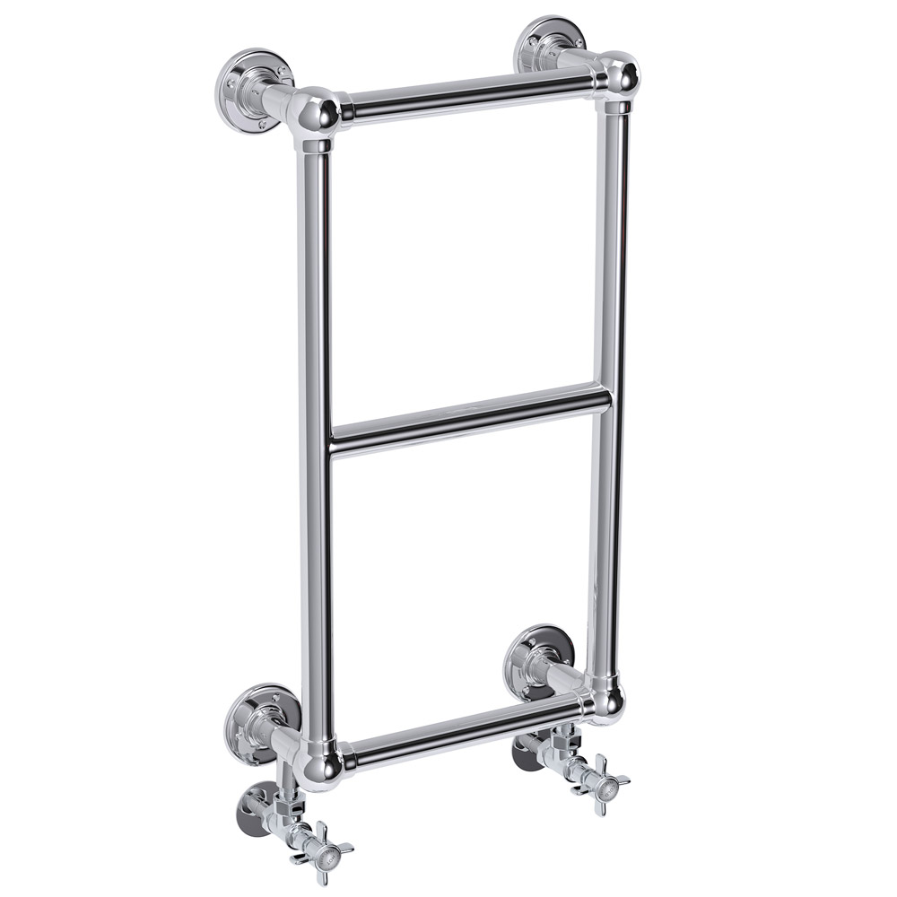 Stamford Traditional 700 x 400mm Chrome Cloakroom Towel Rail profile large image view 1