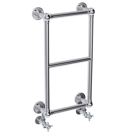 Stamford Traditional 700 x 400mm Chrome Cloakroom Towel Rail
