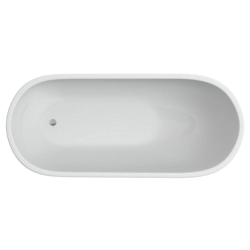 Windsor Sterling 1675 x 720mm Modern Slipper Freestanding Bath Feature Large Image