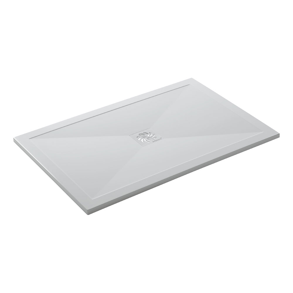 Simpsons - Rectangular Low Profile Stone Resin Shower Tray & Waste - Various Size Options profile large image view 4