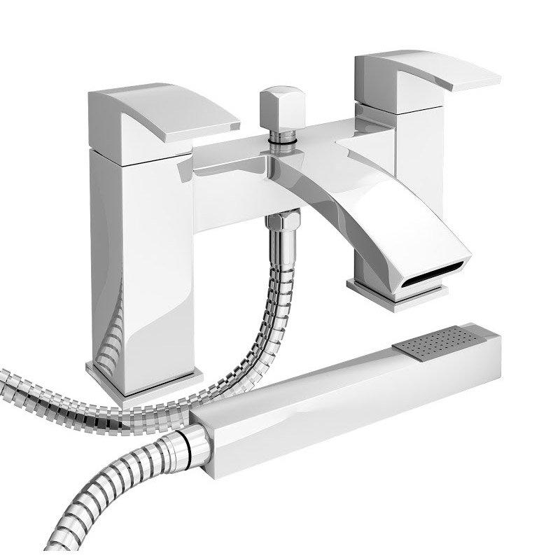 Summit Bath Shower Mixer with Shower Kit - Chrome Large Image