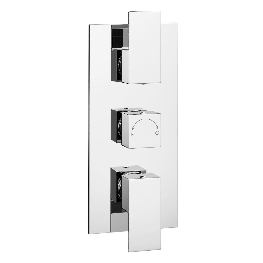 Summit Concealed Thermostatic Triple Shower Valve Large Image