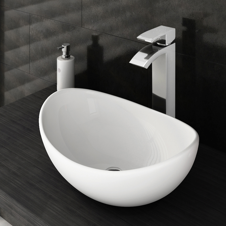 Summit High Rise Waterfall Basin Mixer With Counter Top Basin Online