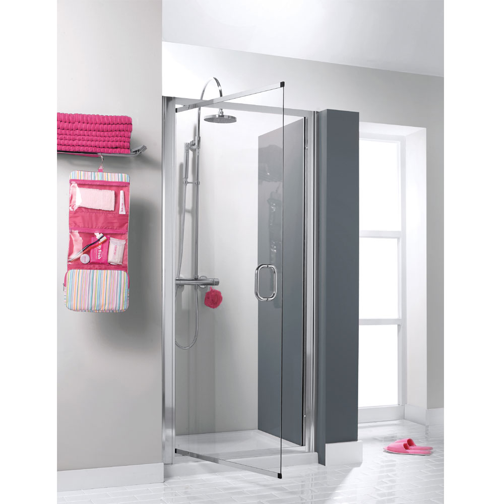 Simpsons - Supreme Luxury Pivot Shower Door - 760/800mm - 7311 profile large image view 1