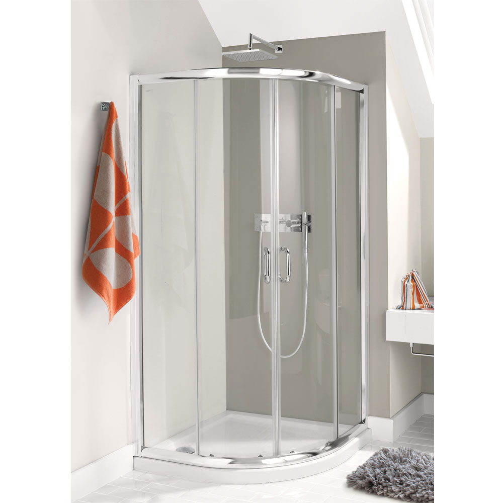 Simpsons - Supreme Luxury Curved Offset Quadrant Shower Enclosure - 3 Size Options Large Image