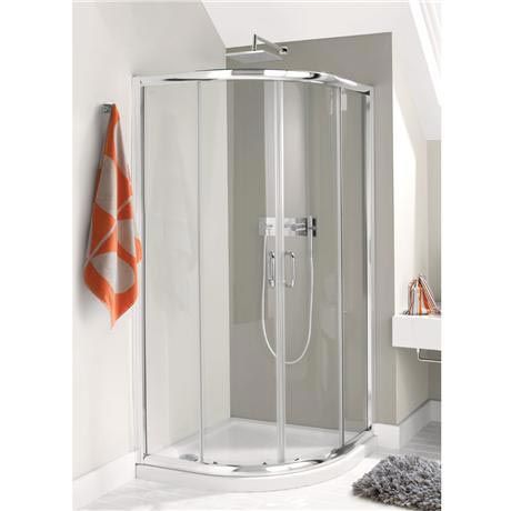 Simpsons - Supreme Luxury Curved Offset Quadrant Shower Enclosure - 3 Size Options