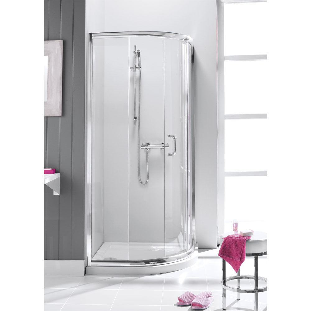 Simpsons - Supreme Quadrant Single Door Shower Enclosure - 900 x 900mm Large Image