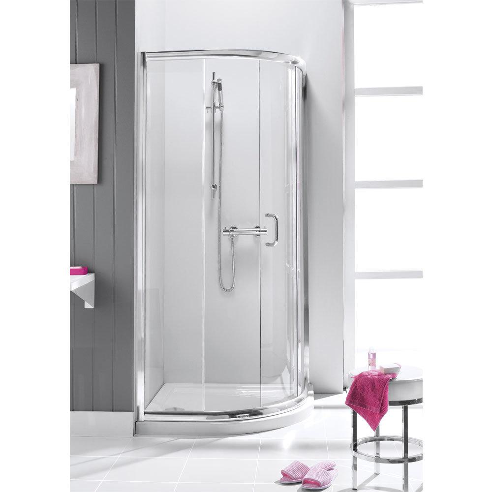 Simpsons - Supreme Offset Quadrant Single Door Shower Enclosure - 4 Size Options Large Image