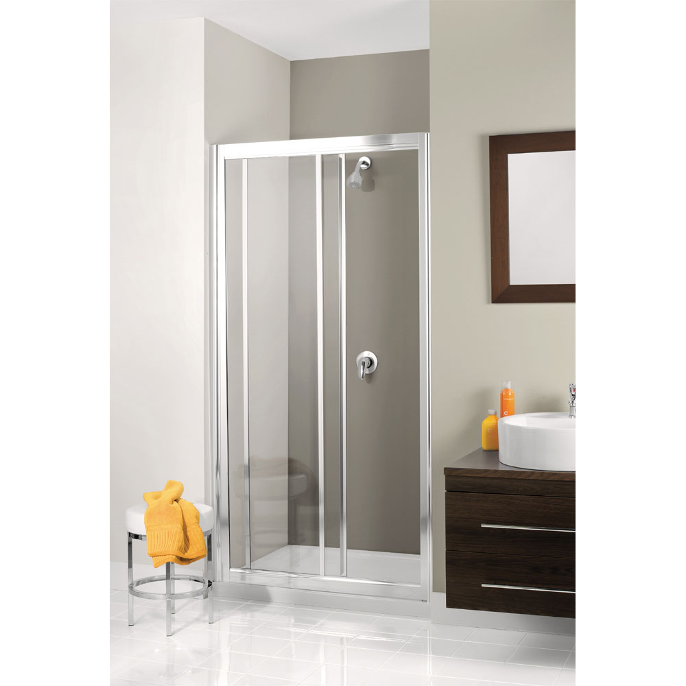 Simpsons - Supreme Single Slider Shower Door - 4 Size Options Large Image