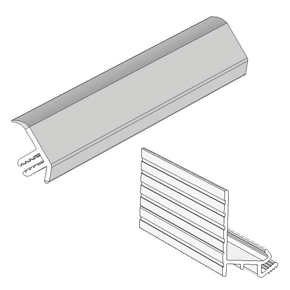 Sureseal 2450mm White PVC Bracket for Showerwall profile large image view 2