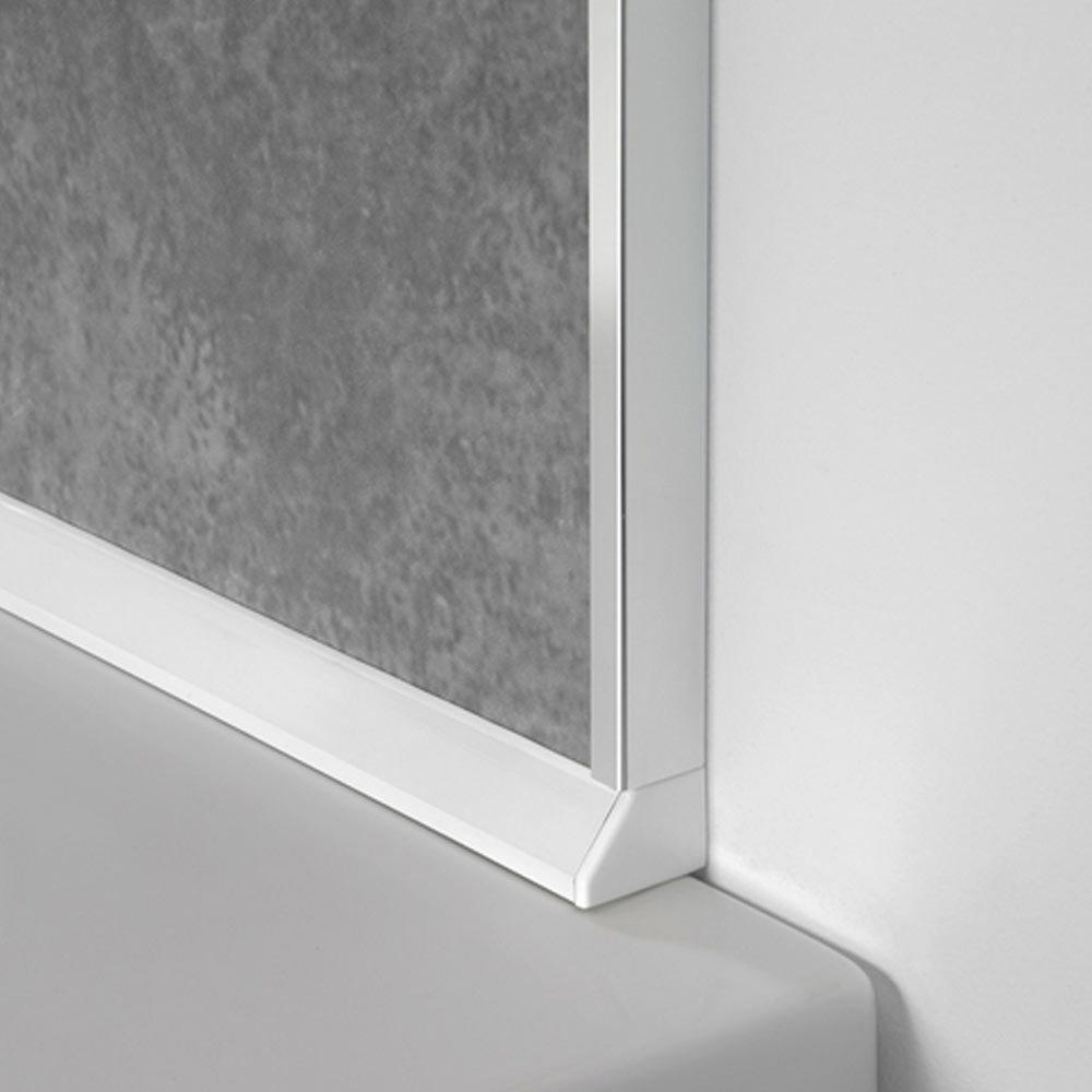 Sureseal 2450mm White PVC Bracket for Showerwall  Large Image