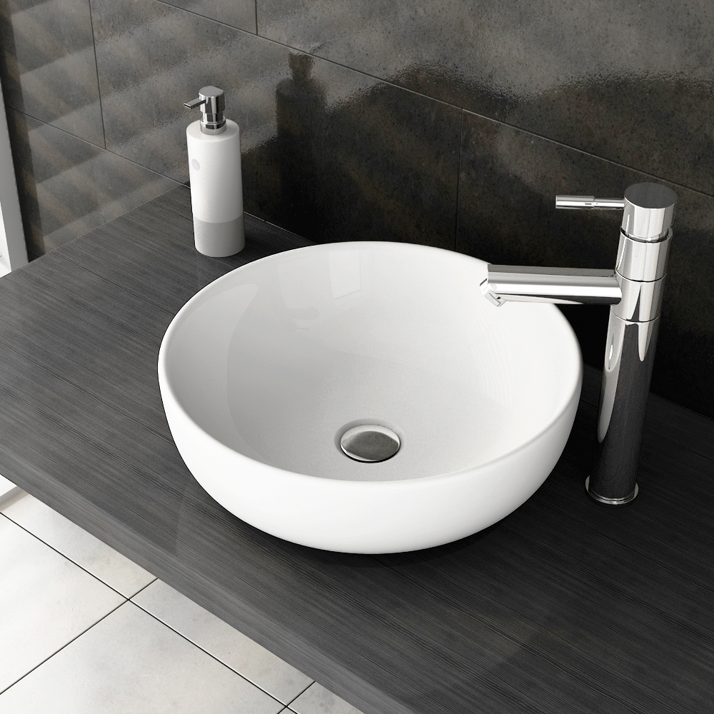Swift High Rise Basin Mixer With Round Counter Top