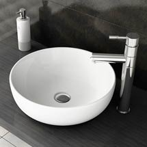 Swift High Rise Basin Mixer with Round Counter Top Basin Medium Image