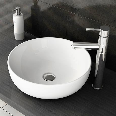 Swift High Rise Basin Mixer with Round Counter Top Basin