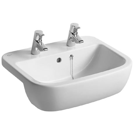 Ideal Standard Tempo 55cm 2TH Semi-Countertop Washbasin