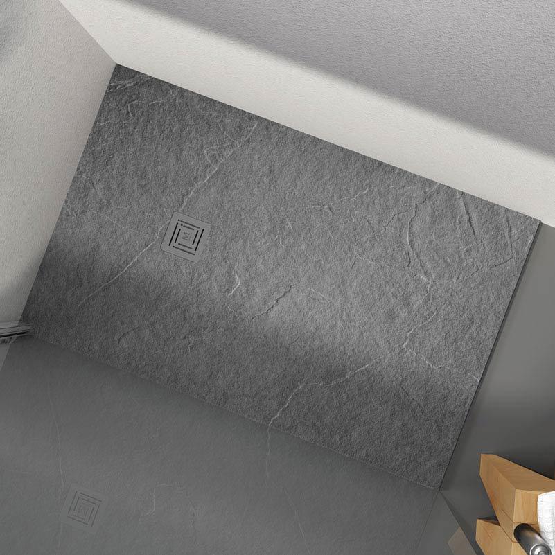 Merlyn Truestone Rectangular Shower Tray - Fossil Grey  Profile Large Image