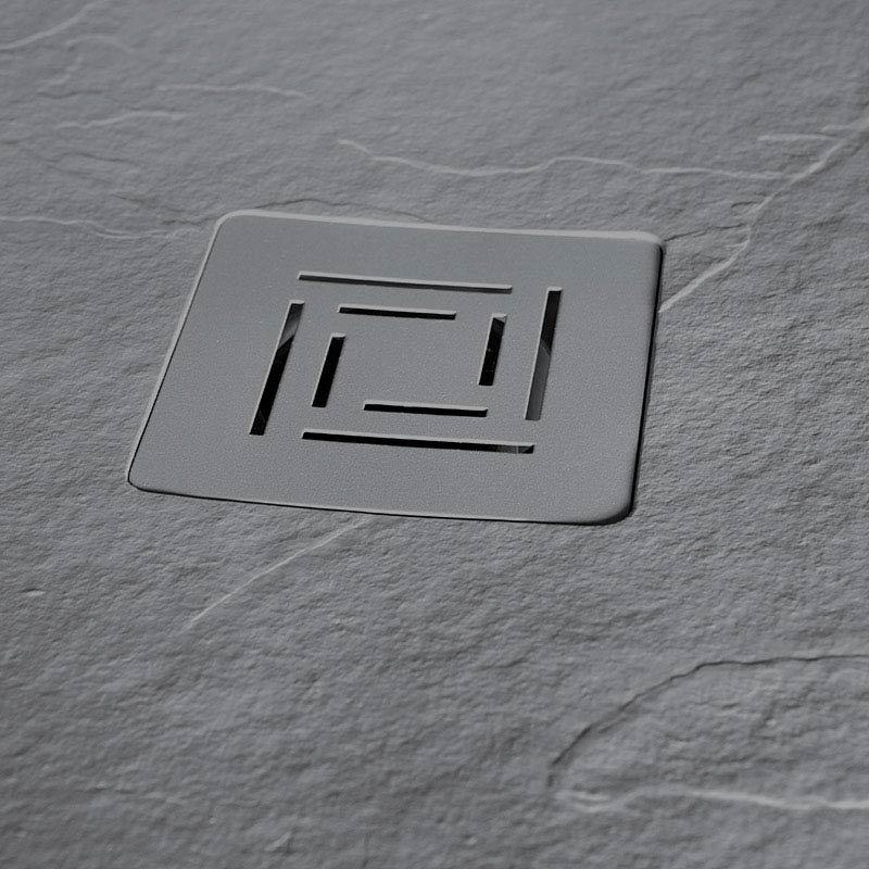 Merlyn Truestone Rectangular Shower Tray - Fossil Grey  Standard Large Image