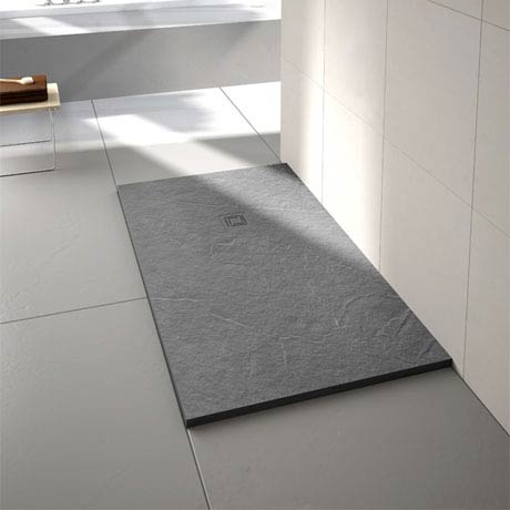Merlyn Truestone Rectangular Shower Tray - Fossil Grey