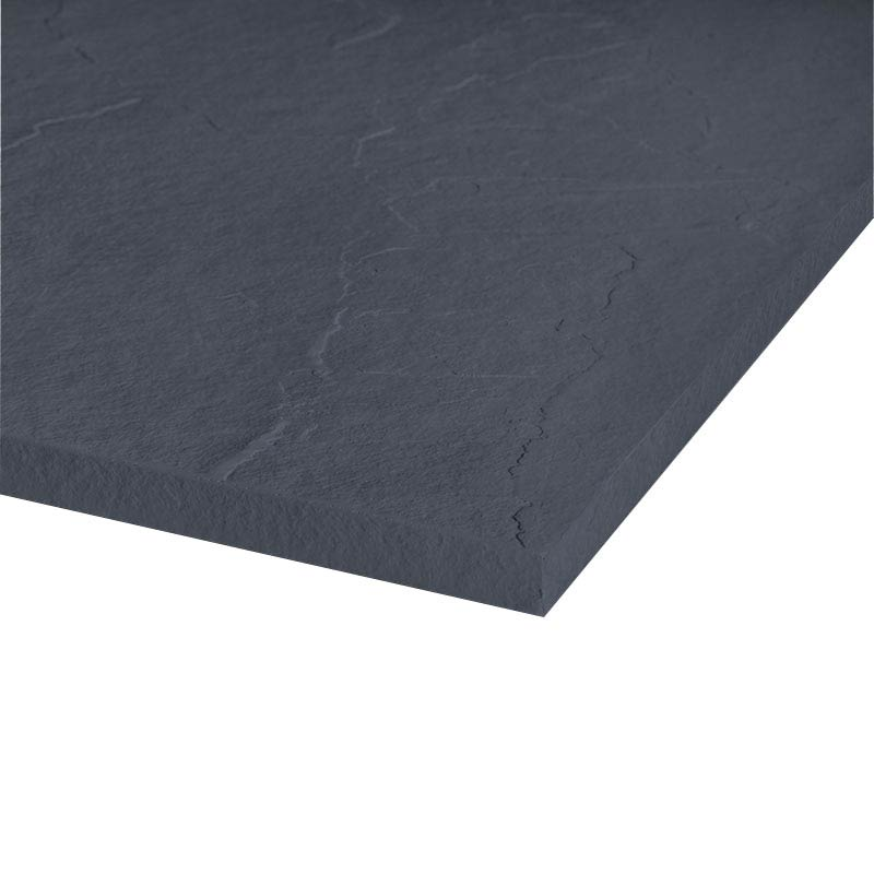 Merlyn Truestone Square Shower Tray - Slate Black - 900 x 900mm  Profile Large Image