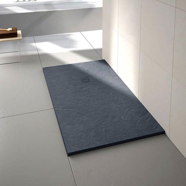 Merlyn Truestone Rectangular Shower Tray - Slate Black Large Image