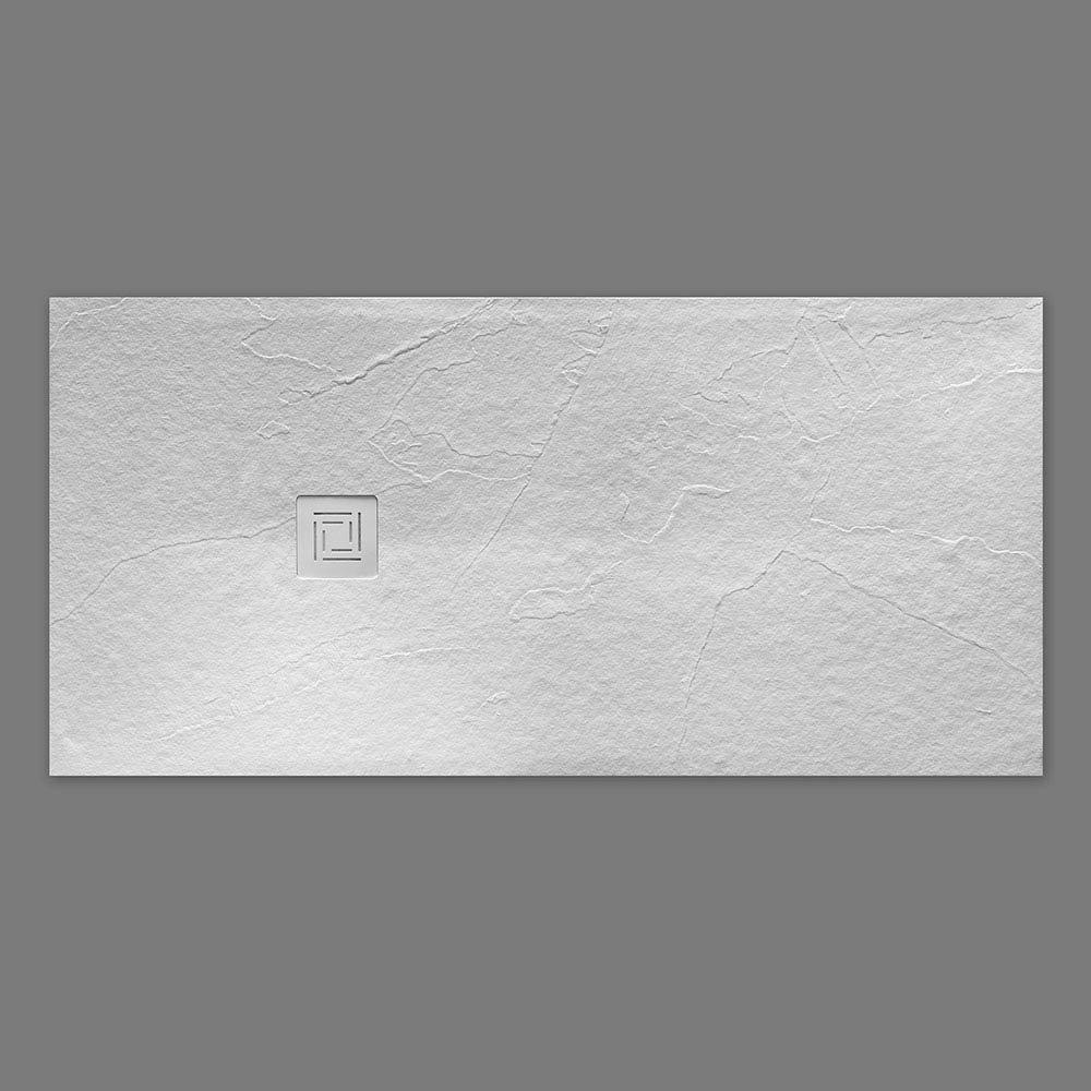 Merlyn Truestone Rectangular Shower Tray - White profile large image view 2