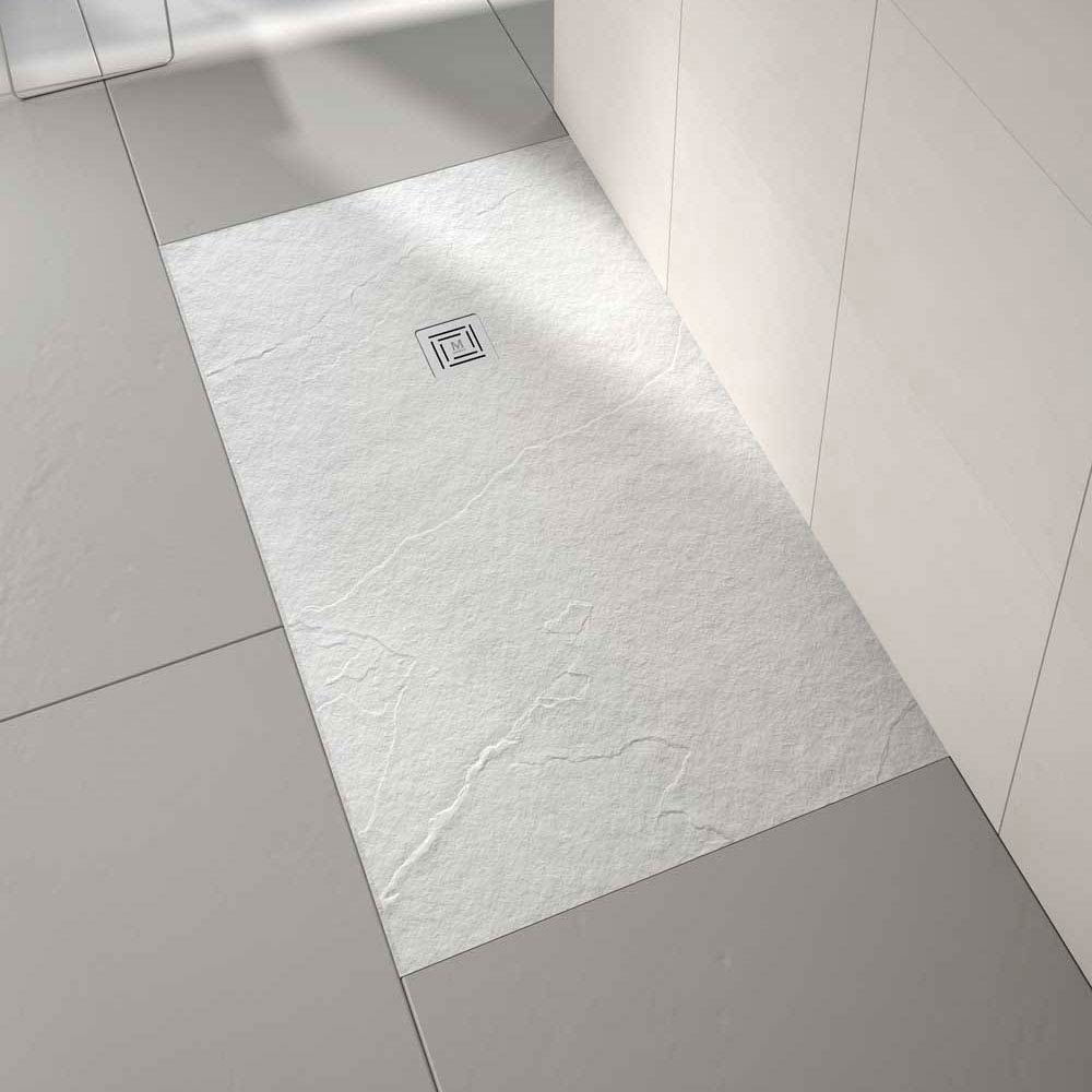 Merlyn Truestone Rectangular Shower Tray - White Large Image
