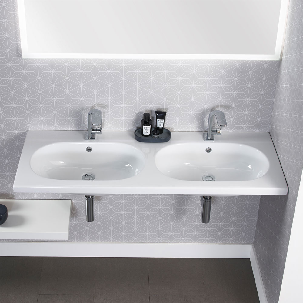 Roper Rhodes Theme 1210mm Wall Mounted Double Basin - T120TSB Profile Large Image