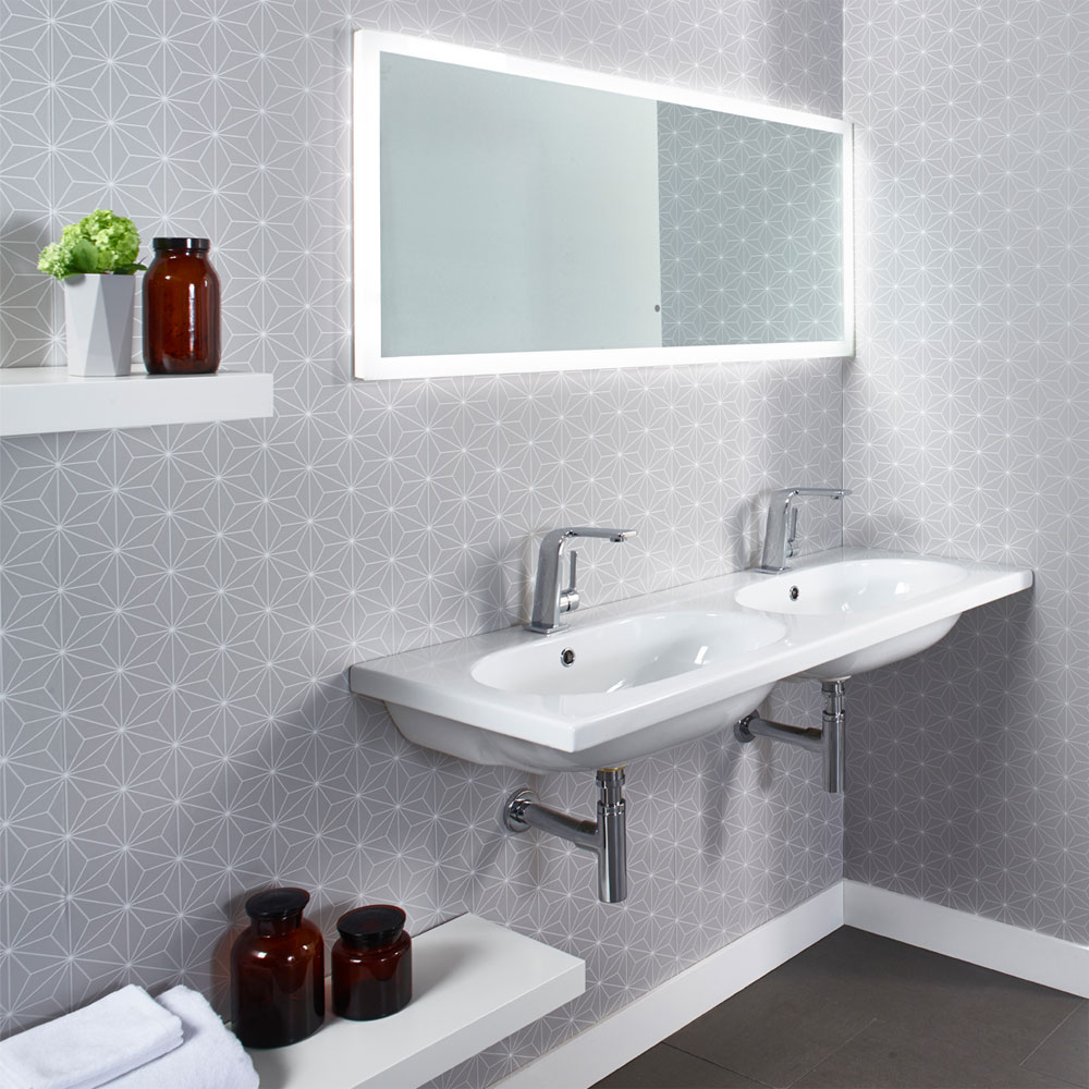Roper Rhodes Theme 1210mm Wall Mounted Double Basin - T120TSB profile large image view 3