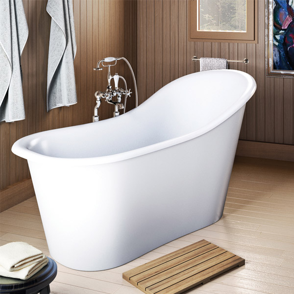 Clearwater - Emperor 1530 x 725 Traditional Freestanding Bath - T13B profile large image view 3