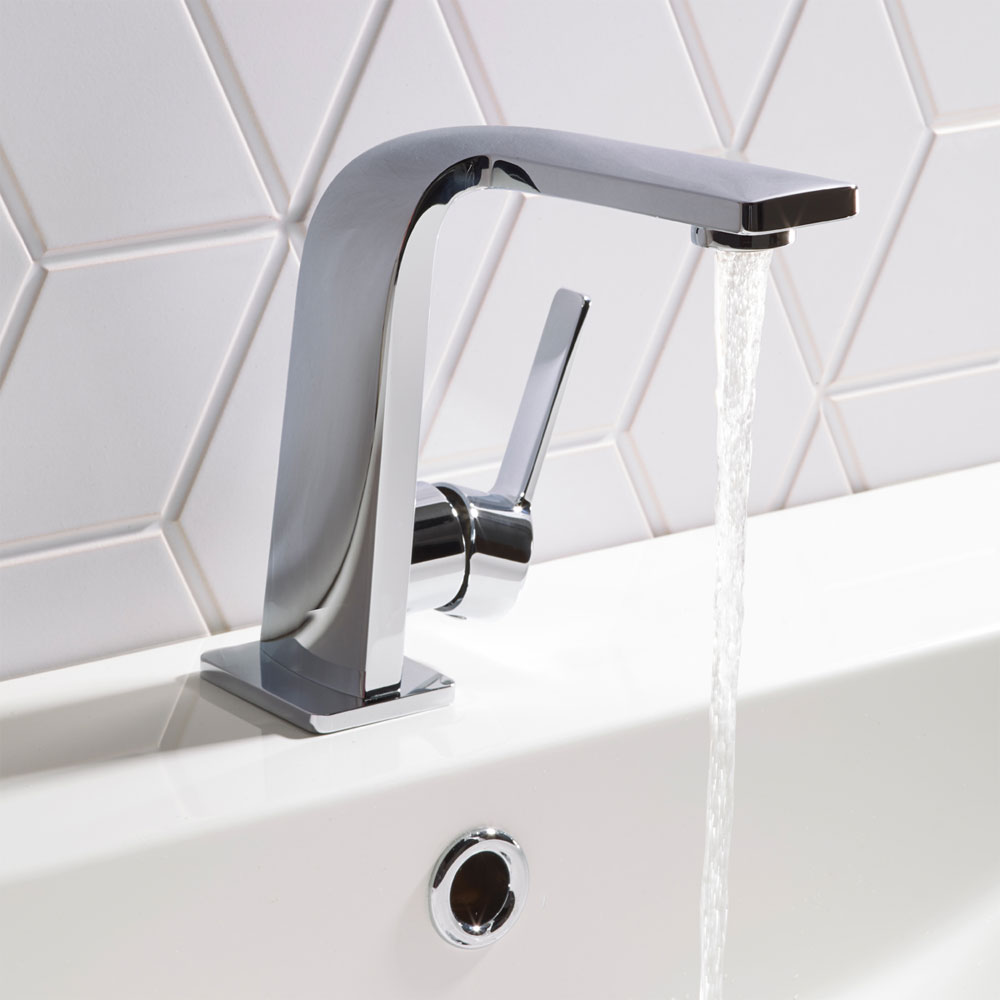 Roper Rhodes Poise Basin Mixer Tap with Aerator & Clicker Waste - T231102 profile large image view 2