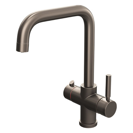 Taranto Gunmetal Grey Instant Boiling Water Kitchen Tap (Includes Tap, Boiler + Filter)