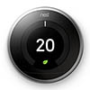 Nest Stainless Steel Learning Thermostat 3rd Generation profile small image view 1