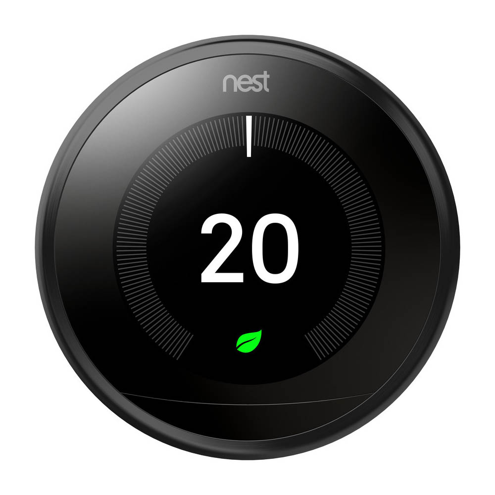 Nest Black Learning Thermostat 3rd Generation