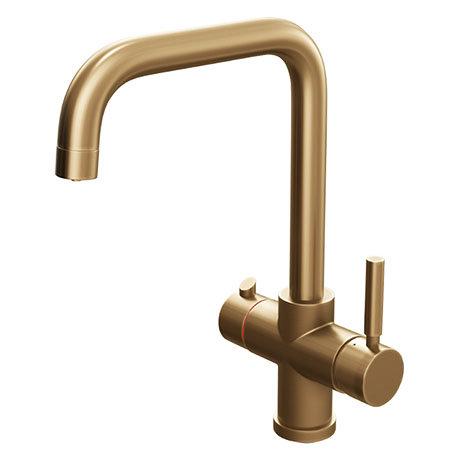 Taranto Brushed Gold Instant Boiling Water Kitchen Tap (Includes Tap, Boiler + Filter)