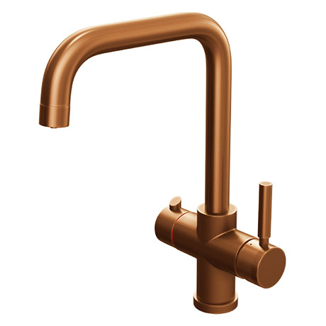 Taranto Brushed Copper Instant Boiling Water Kitchen Tap (Includes Tap, Boiler + Filter)