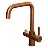 Taranto Brushed Copper Instant Boiling Water Kitchen Tap (Includes Tap, Boiler + Filter) profile small image view 1
