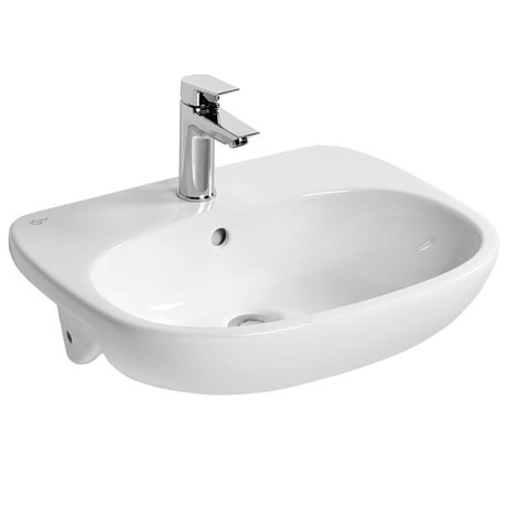 Ideal Standard Tesi 55cm 1TH Semi-Countertop Washbasin