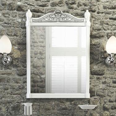 Burlington Georgian Mirror with White Aluminium Frame - T42WHI Profile Large Image