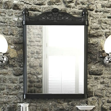 Burlington Georgian Mirror with Black Aluminium Frame - T47BLA Profile Large Image