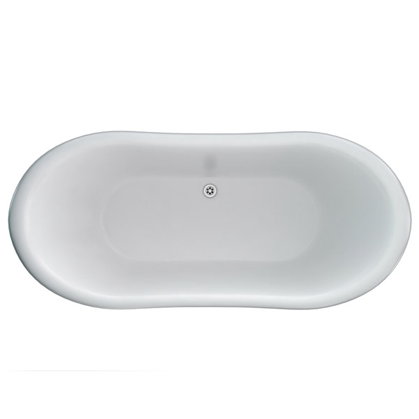 Clearwater - Boat 1650 x 705 Traditional Freestanding Bath - T5C Profile Large Image