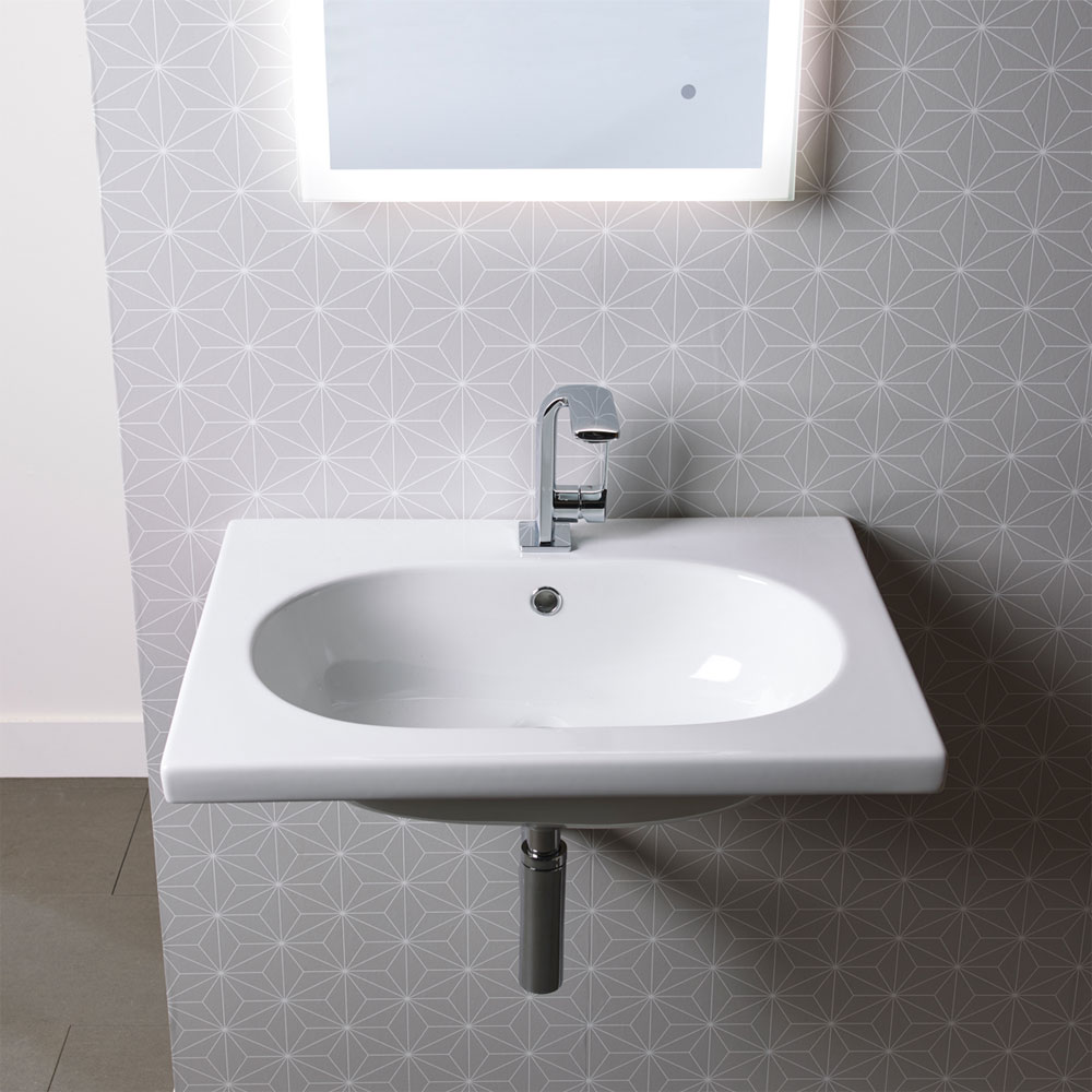 Roper Rhodes Theme 610mm Wall Mounted Basin - T60SB Profile Large Image