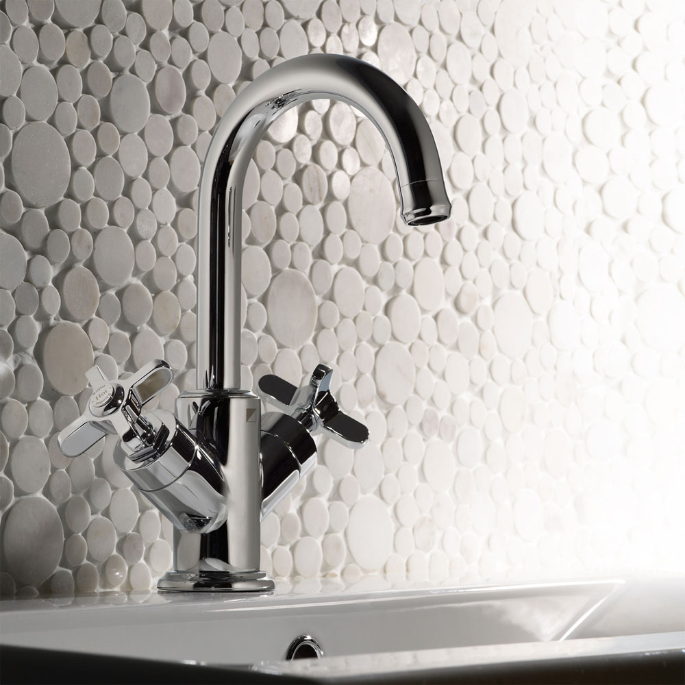 Roper Rhodes Wessex Basin Mixer with Clicker Waste - T661002 Profile Large Image