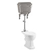 Burlington Rimless Medium Level WC with Aluminium Lever Cistern profile small image view 1