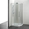 Ideal Standard Kubo 900 x 900mm Quadrant Shower Enclosure - T7351EO profile small image view 1