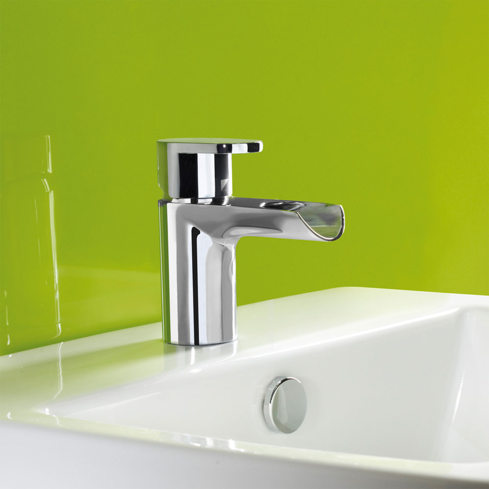 Roper Rhodes Stream Open Spout Basin Mixer with Clicker Waste - T771302 Feature Large Image