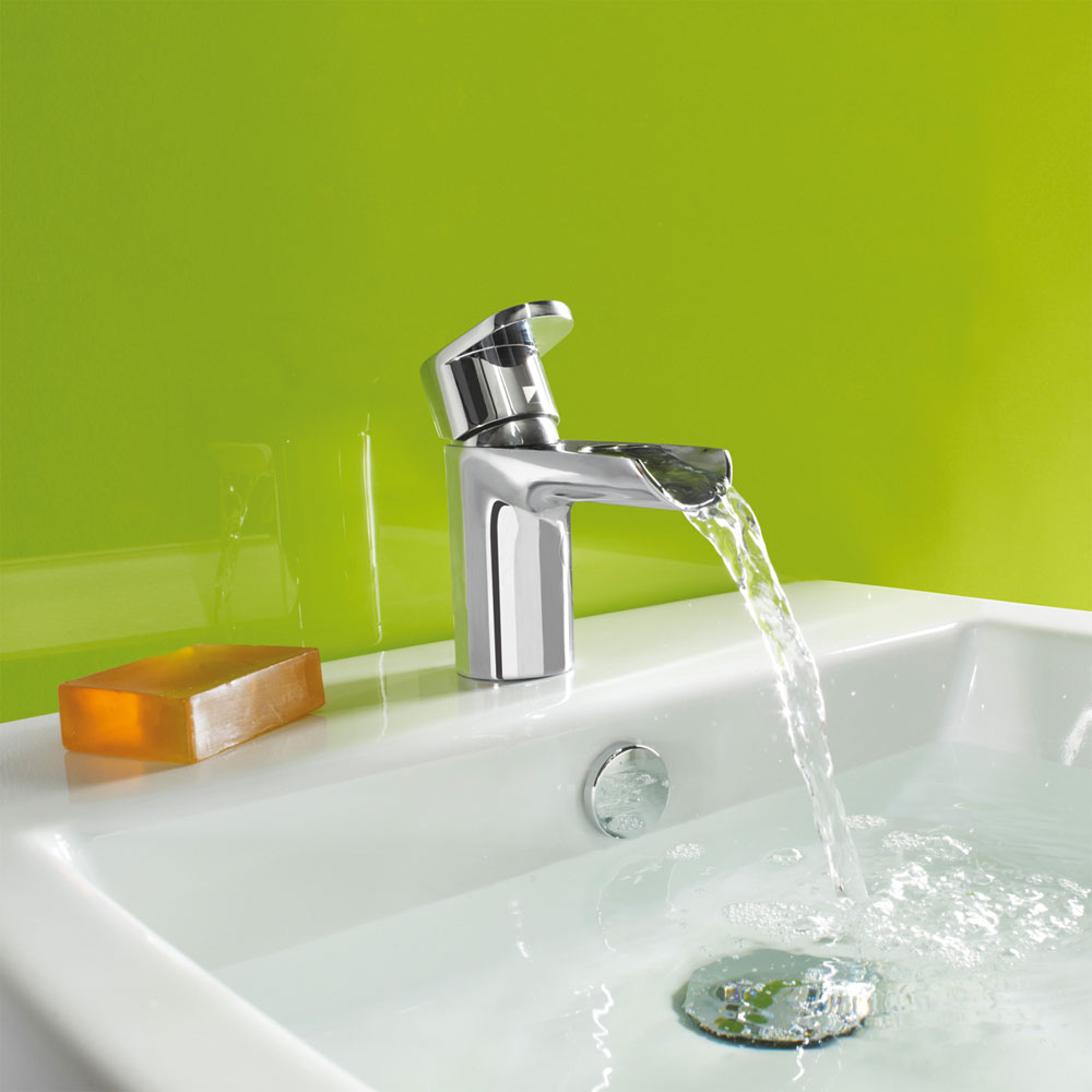Roper Rhodes Stream Open Spout Basin Mixer with Clicker Waste - T771302 Standard Large Image