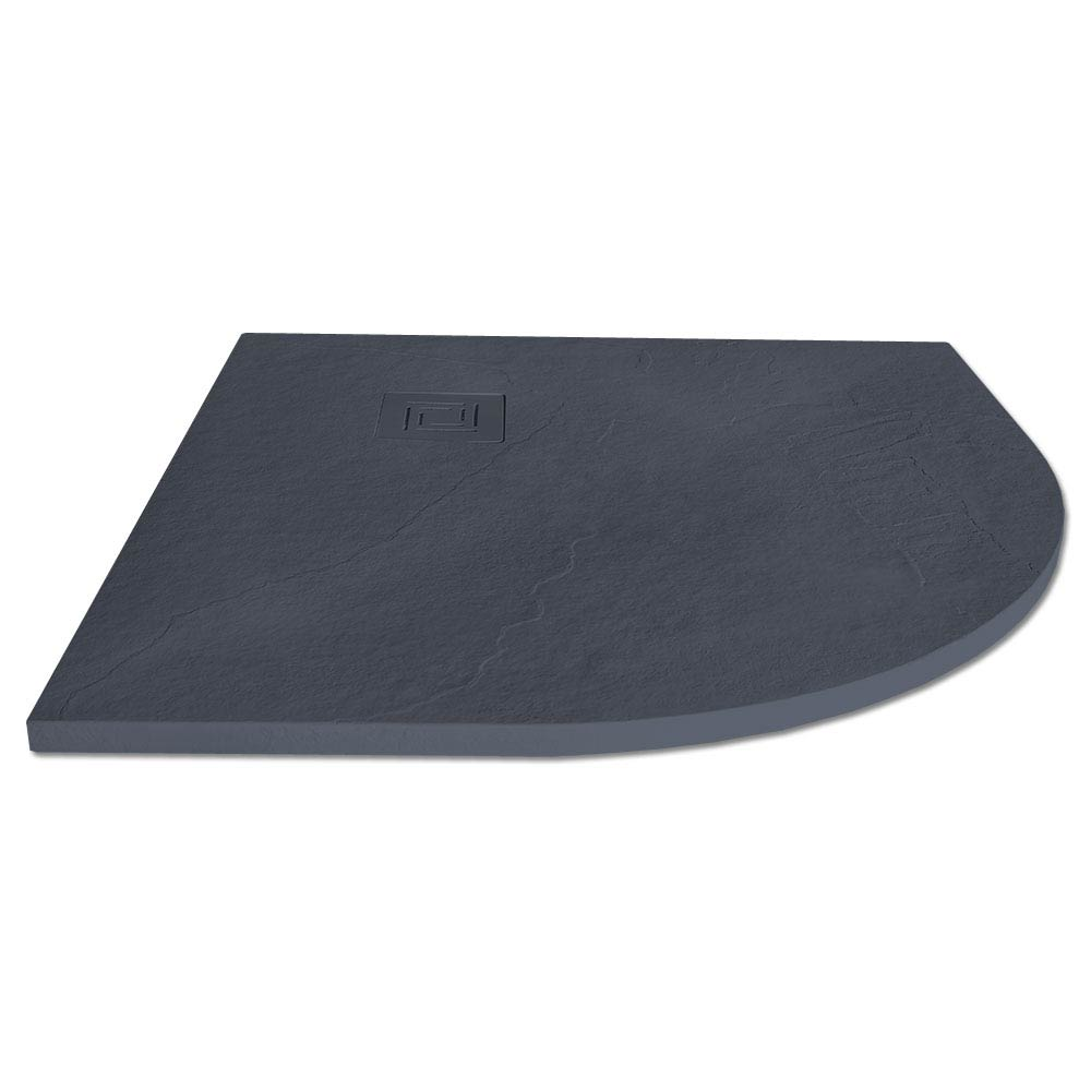 Merlyn Truestone Quandrant Shower Tray - Slate Black - 900 x 900mm Large Image