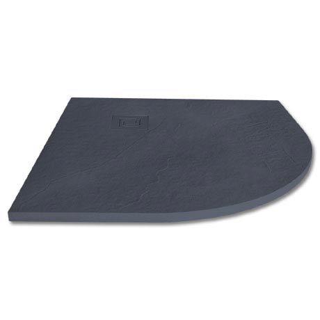 Merlyn Truestone Quandrant Shower Tray - Slate Black - 900 x 900mm