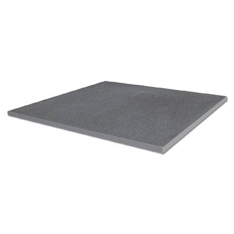 Merlyn Truestone Square Shower Tray - Fossil Grey - 900 x 900mm